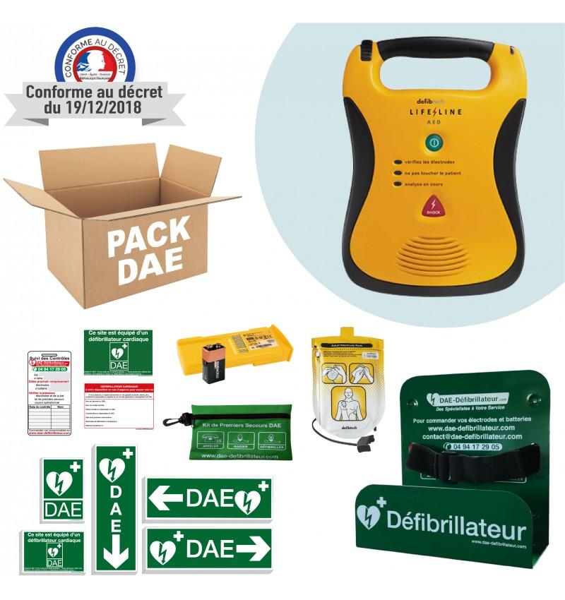 Pack défibrillateur Lifeline Defibtech