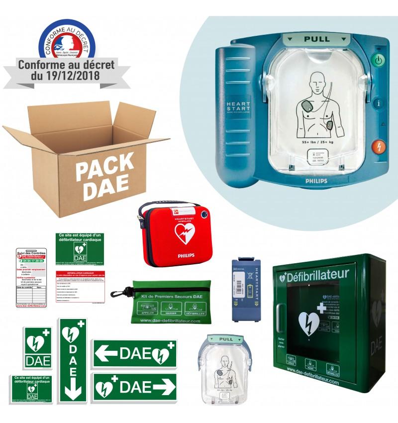 Pack Défibrillateur Philips HS1 avec boitier intétieur alarme