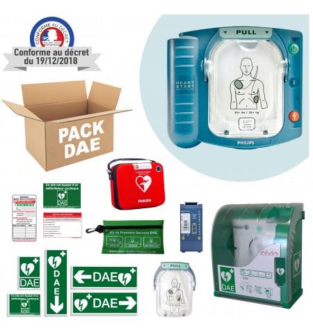Pack Défibrillateur Philips HS1 avec boitier extérieur  alarme et chauffage