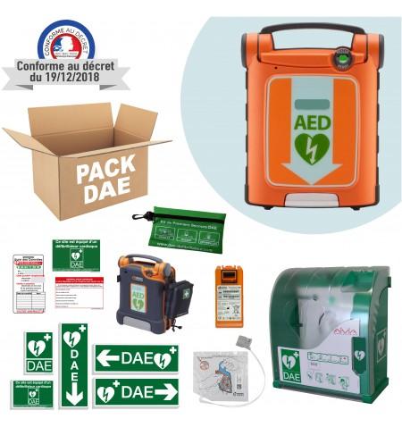 Pack DAE Cardiac Science PowerHeart G5 pour une installation en extérieur