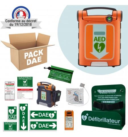 Pack DAE Cardiac Science PowerHeart G5 pour une installation en intérieur