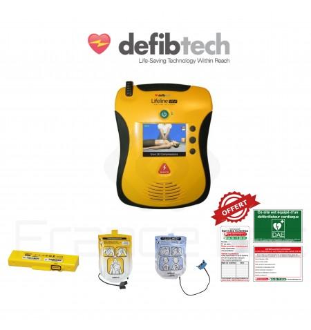 Électrodes et batterie Lifeline view Défibtech