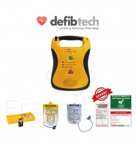 Électrodes et batterie Lifeline Defibtech
