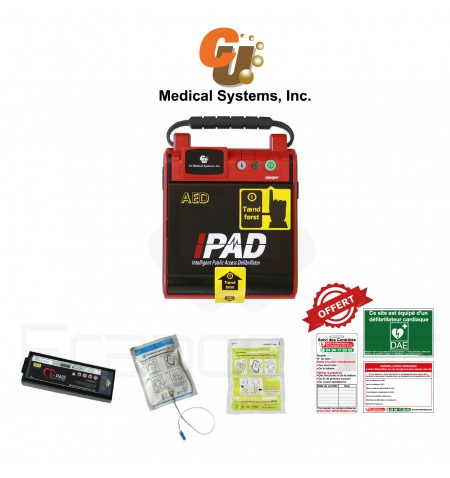 Électrodes et batterie I-PAD CU Medical Systems