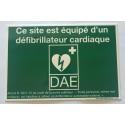 """Autocollant """"Ce site est équipé d'un défibrillateur Cardiaque"""" conforme ILCOR"""